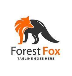 Two color fox logo design template vector