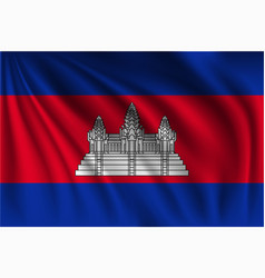 Waving cambodia vector