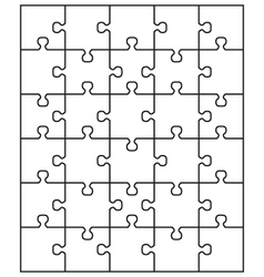 white puzzle vector image