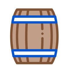 wooden barrel icon outline vector image