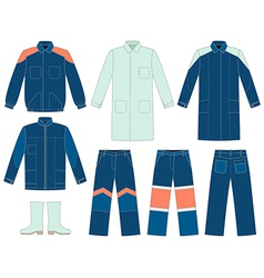 Workwear set vector
