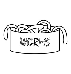 Worms icon outline style vector