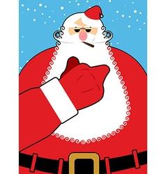 Bad Santa Claus shows Bad hand gesture Bully vector image