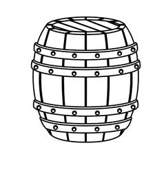 Contour wooden barrel icon image design vector
