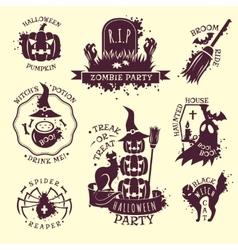 Halloween Emblems vector image