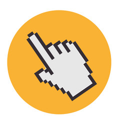 hand mouse pointer icon vector image vector image