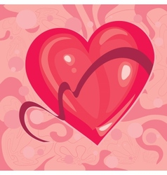 heart with a Ribbon vector image vector image