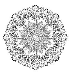 mandala coloring book vector image