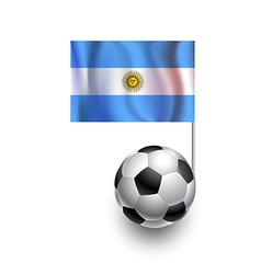 Soccer Balls or Footballs with flag of Argentina vector image vector image