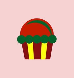 Cupcake icon vector