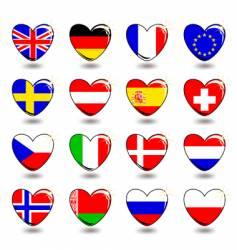 heart flag vector image vector image