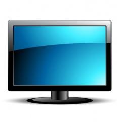 LCD panel vector image