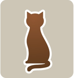 sign with cat vector image