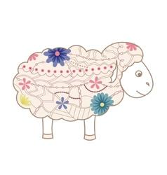 Vintage sheep vector image