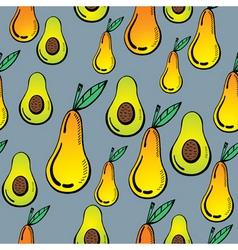 avocado and pear vector image vector image