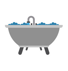 bathtub with faucet open vector image