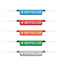 Bestseller paper tag labels vector image vector image
