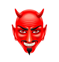 devil face isolated on white vector image vector image