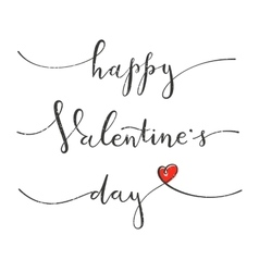 Happy Valentines Day Greeting card with hand vector image vector image