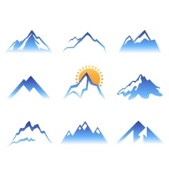 mountains signs vector image vector image