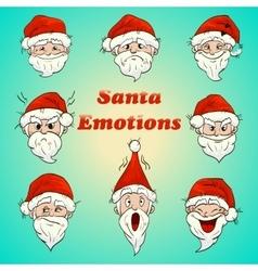 colored santa emotions vector image