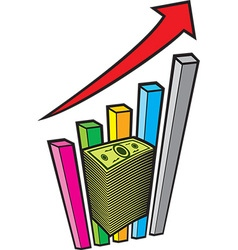 Positive Business Graph vector image