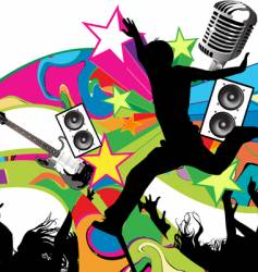 rock concert vector image vector image