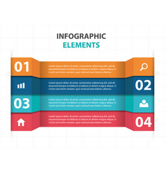 Abstract colorful label business infographics vector