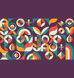 Abstract geometric concept poster design graphic vector