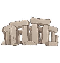 Ancient stone monument theme 1 vector