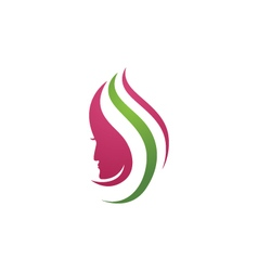 Beauty Women Icon Logo Template vector image