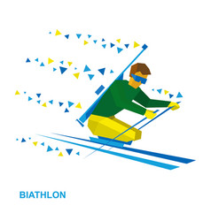 Biathlon for athletes with a disability vector
