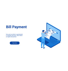 bill payments theme template 2 vector image