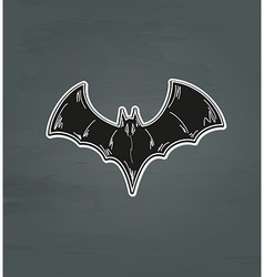 Black bat vector