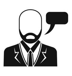 businessman speech icon simple style vector image