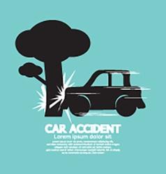 Car Crash Big Tree vector image
