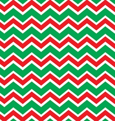 Chevron Christmas pattern vector