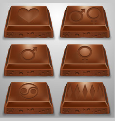 Chocolate slice vector