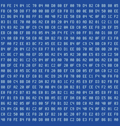 Computer blue screen hexadecimal code seamless vector