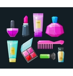 cosmetic a set of colored icons Collection of vector image