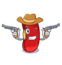 Cowboy character red beans for cooking ingredients vector
