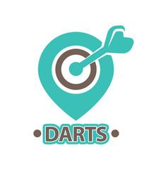 Darts club isolated icon of arrow vector