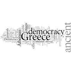 Democracy in ancient greece vector