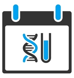 DNA Analysis Calendar Day Toolbar Icon vector