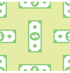 dollar banknote seamless pattern vector image