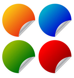 empty blank sticker in vibrant colors with vector image