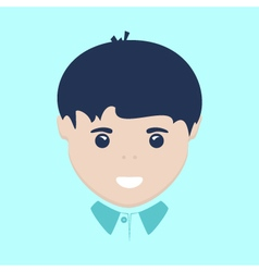 European Boy Face Isolated vector image