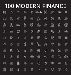 finance icons editable line icons set on vector image
