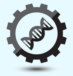 flat biotechnology industry icon on blue vintage vector image