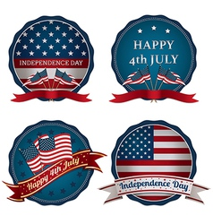 Fourth july decorations vector